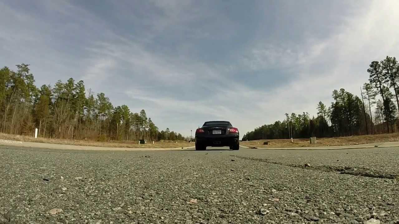 Chrysler Crossfire   Flowmaster Super 44 Take off - YouTube