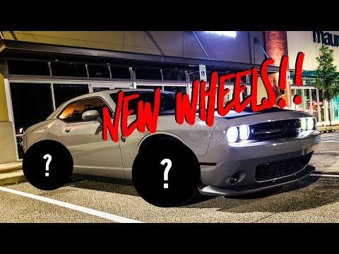 My Dodge Challenger gets new wheels! BIG IMPROVEMENT!