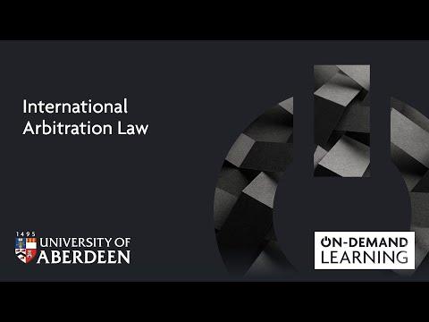 International Arbitration Law - Online short course