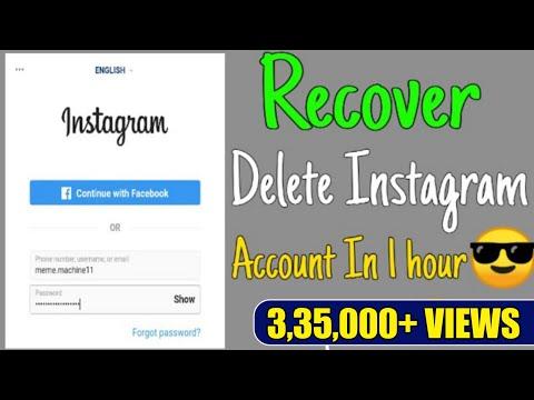 Delete Instagram Account Recover kaise kare . // Deleted Instagram Account Recover .