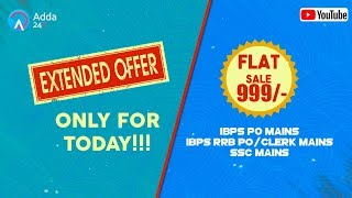 Last Day to Purchase Mains Video Courses at Just Rs 999/-