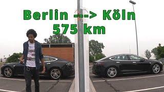 Tesla Model S Roadtrip Berlin nach Köln - Führerscheinprüfung Pech, Starker Regen und Supercharger