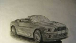 DRAWING VIDEO 8 ( Ford Mustang Shelby GT500 )