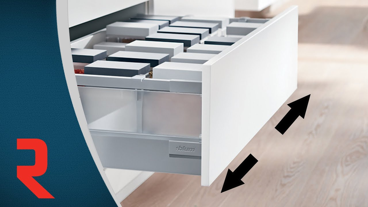 How To Adjust The Sides Of A Tandembox Antaro Drawer With Glass Inserts