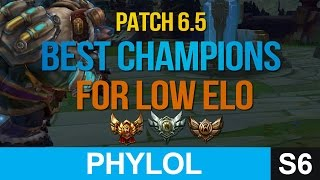 Best champions for LOW ELO for solo queue in Patch 6.5 - League of Legends