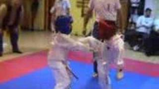 My son's first kyokushinkai fighting