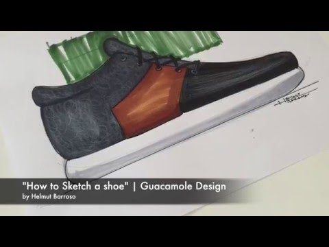 How to sketch a shoe