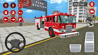 Real Fire Truck Driving Simulator Fire Fighting #6 - Tampa Fire Department Truck - Android Gameplay screenshot 4