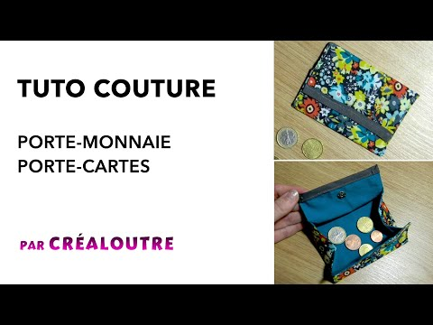 tuto porte monnaie porte cartes facile youtube. Black Bedroom Furniture Sets. Home Design Ideas