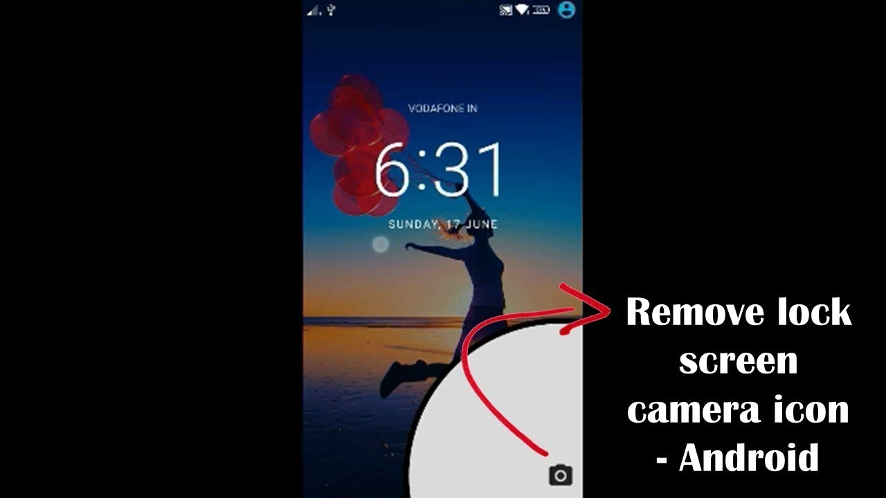 How to remove camera icon from lock screen - Android