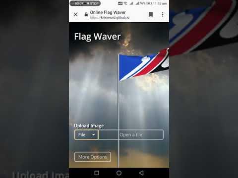 Online flag 🚩 wave