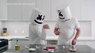 How To Cook Steak Fatherand39s Day Edition  Cooking With Marshmello