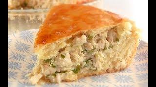Пирог с мясом(курицей)ОЧЕНЬ сочный/ Тесто дрожжевое на сметане