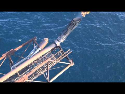 Live flare stack inspection in the North sea