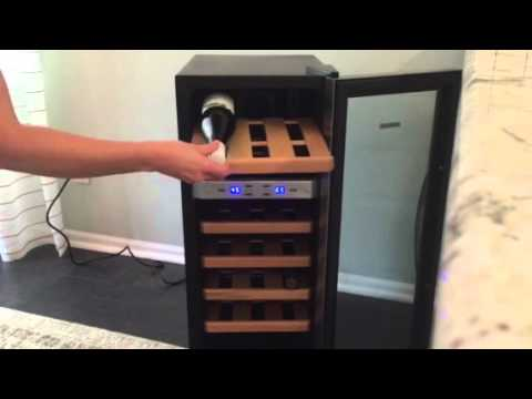 review of the newair aw 211ed 21 bottle wine cooler youtube. Black Bedroom Furniture Sets. Home Design Ideas