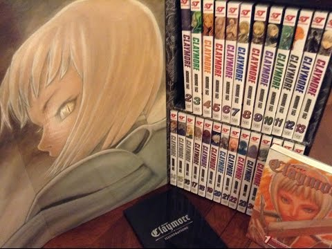 MANGA UNBOXING - CLAYMORE COMPLETE BOX SET (1-27)