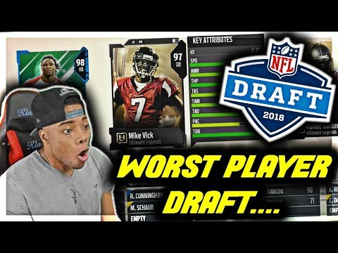 WORST PLAYER DRAFT 😯 MISFITS OUT FOR BLOOD! | Madden 18 Draft Champions Gameplay | Jmellflo