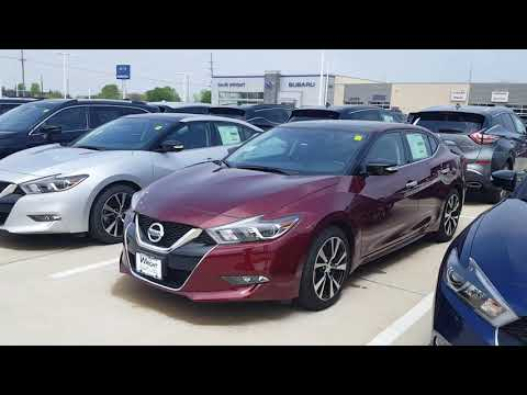 "2018 Nissan Maxima SL in the ""Carnelian Red"" finish at Dave Wright Nissan"