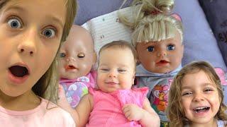 Ева ухаживает за куклами Беби Бон - Лиза Подменила Беби Борны вместо детей Видео