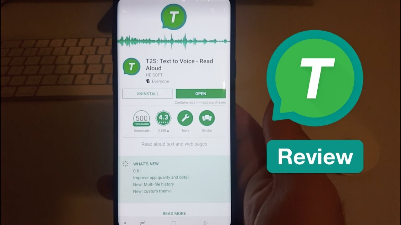 A Useful App That Can Read Articles And Other Text On Your Phone - T2S App  Review