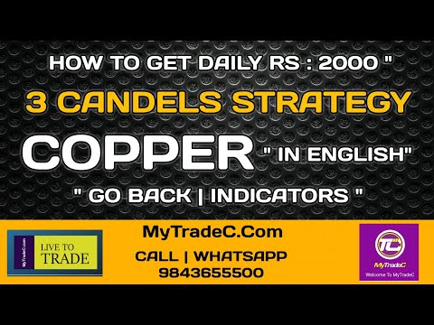 COPPER DAILY 2K | 3 CANDLES STRATEGY IN ENGLISH | EDUCATION | INVITE & SHARE | ARUN