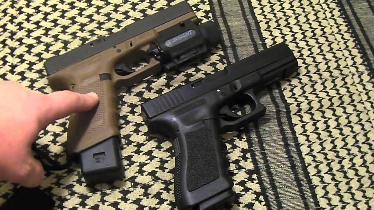 Grip Comparison - Glock Gen 4 Vs Gen 3 - YouTube