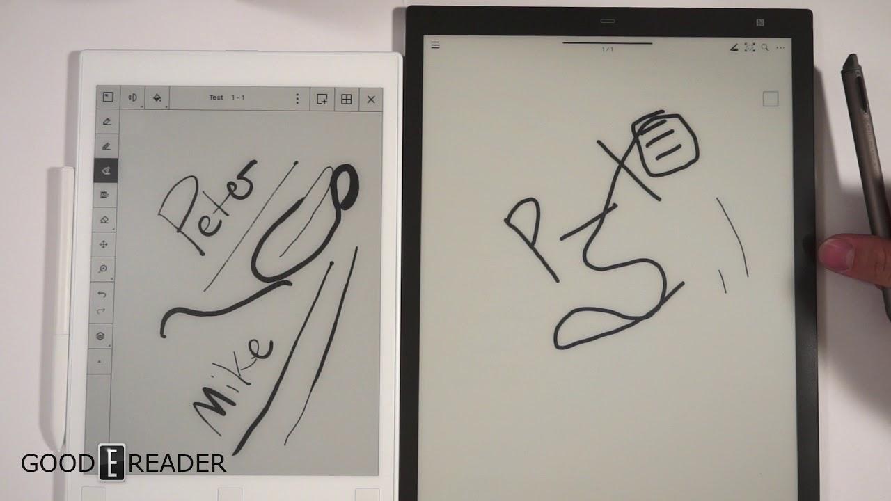 Remarkable vs the Sony Digital Paper DPT-RP1