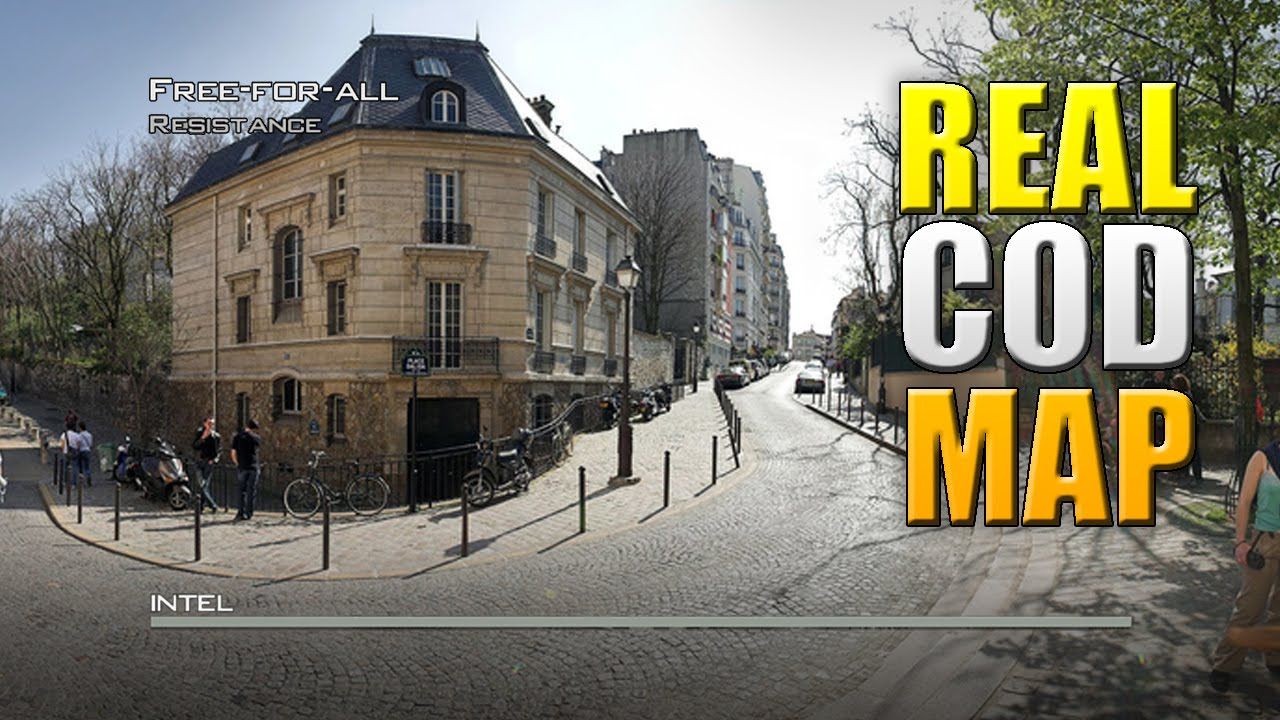Call of Duty Map IN REAL LIFE!! COD MW3 Resistance IRL Google Earth Live  Commentary WITH A CLIP!!