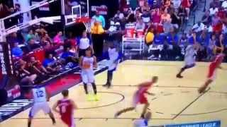 Andrew Wiggins Spin Move Dunk