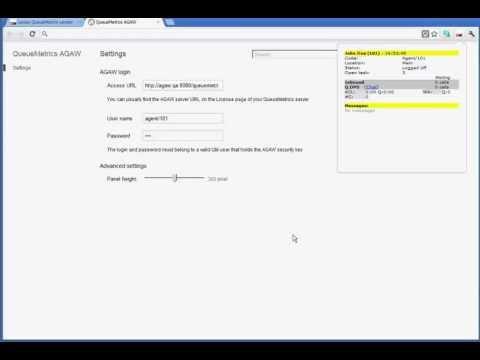 QueueMetrics AGAW Client for Chrome
