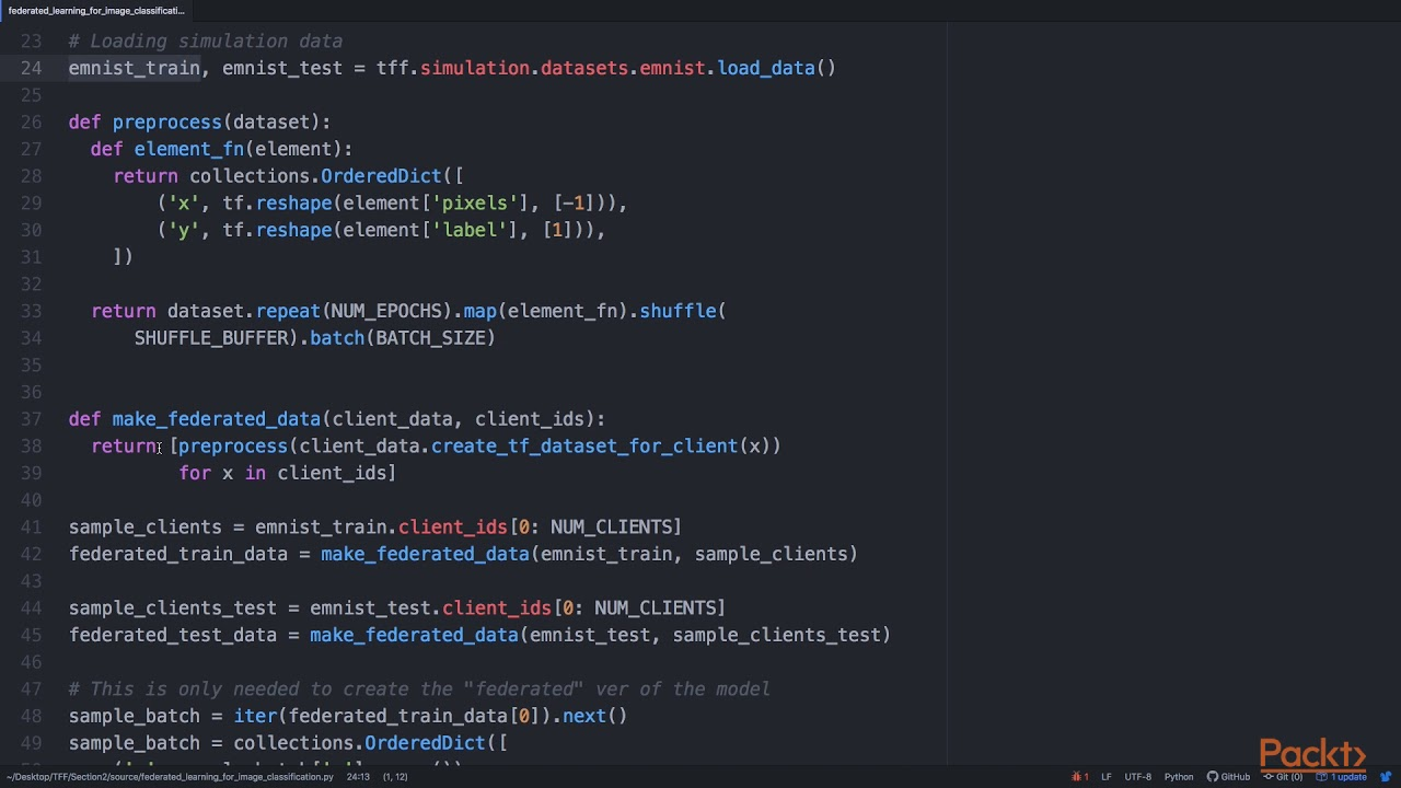 Federated Learning with TensorFlow: Load Decentralized MNIST Dataset |  packtpub com