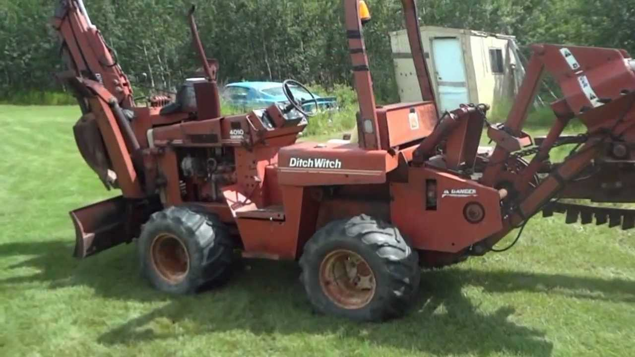 4010 ditch witch trencher youtube rh youtube com Ditch Witch 6510 Weight Ditch Witch 6510 Weight