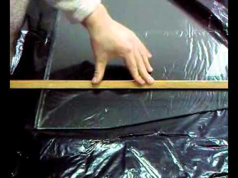 Как ровно отрезать стекло имея только стеклорез.