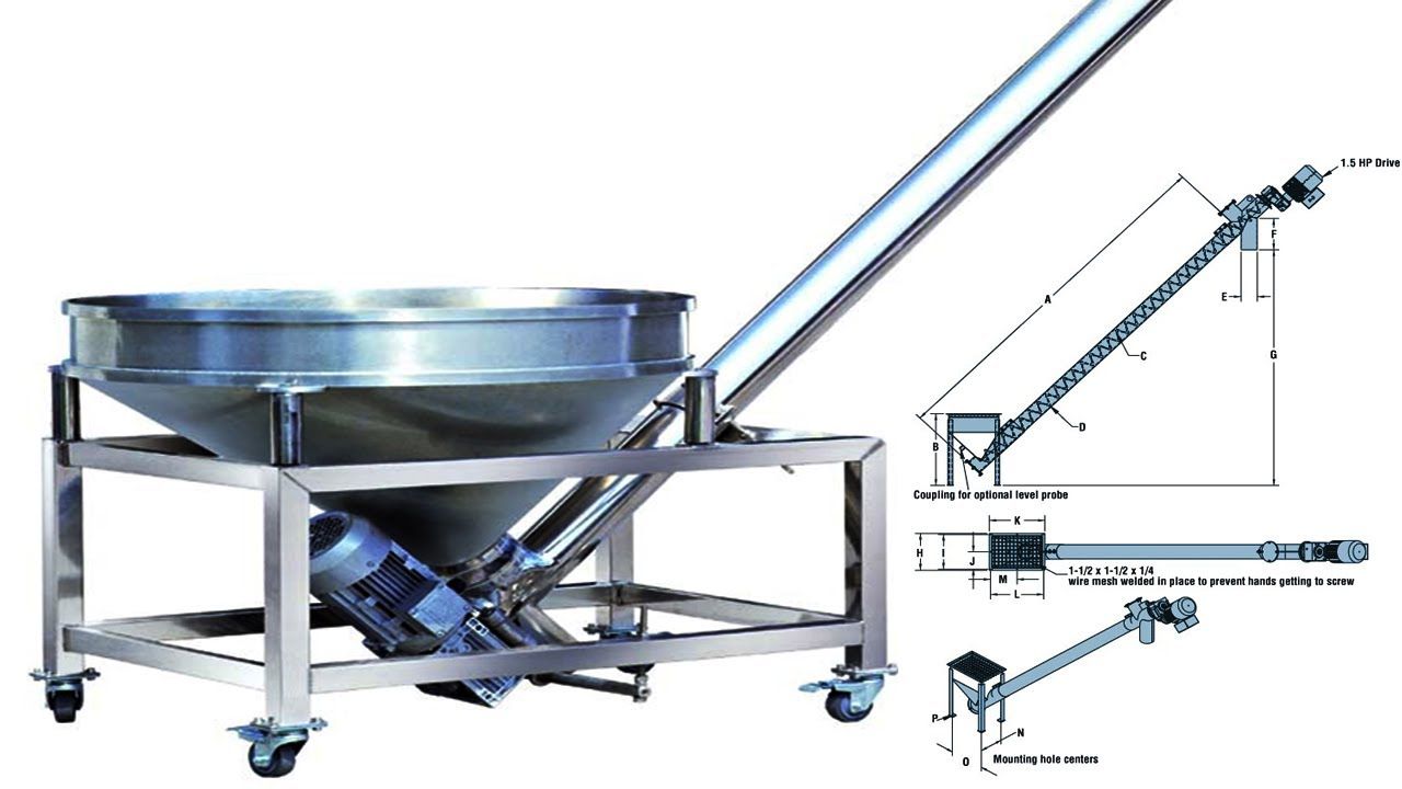Screw Conveyor Auger Conveying System Auger Feeder For