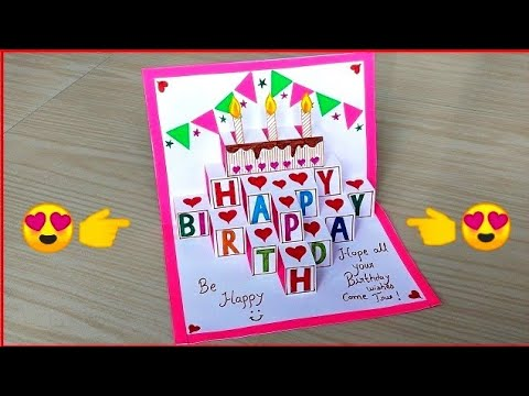 beautiful-handmade-birthday-greeting-card-/-diy-birthday-pop-up-card-/-birthday-card-making