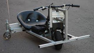 Electric Drift Trike 1000W DIY, alu frame