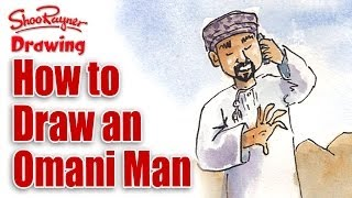 How to draw an Omani Man