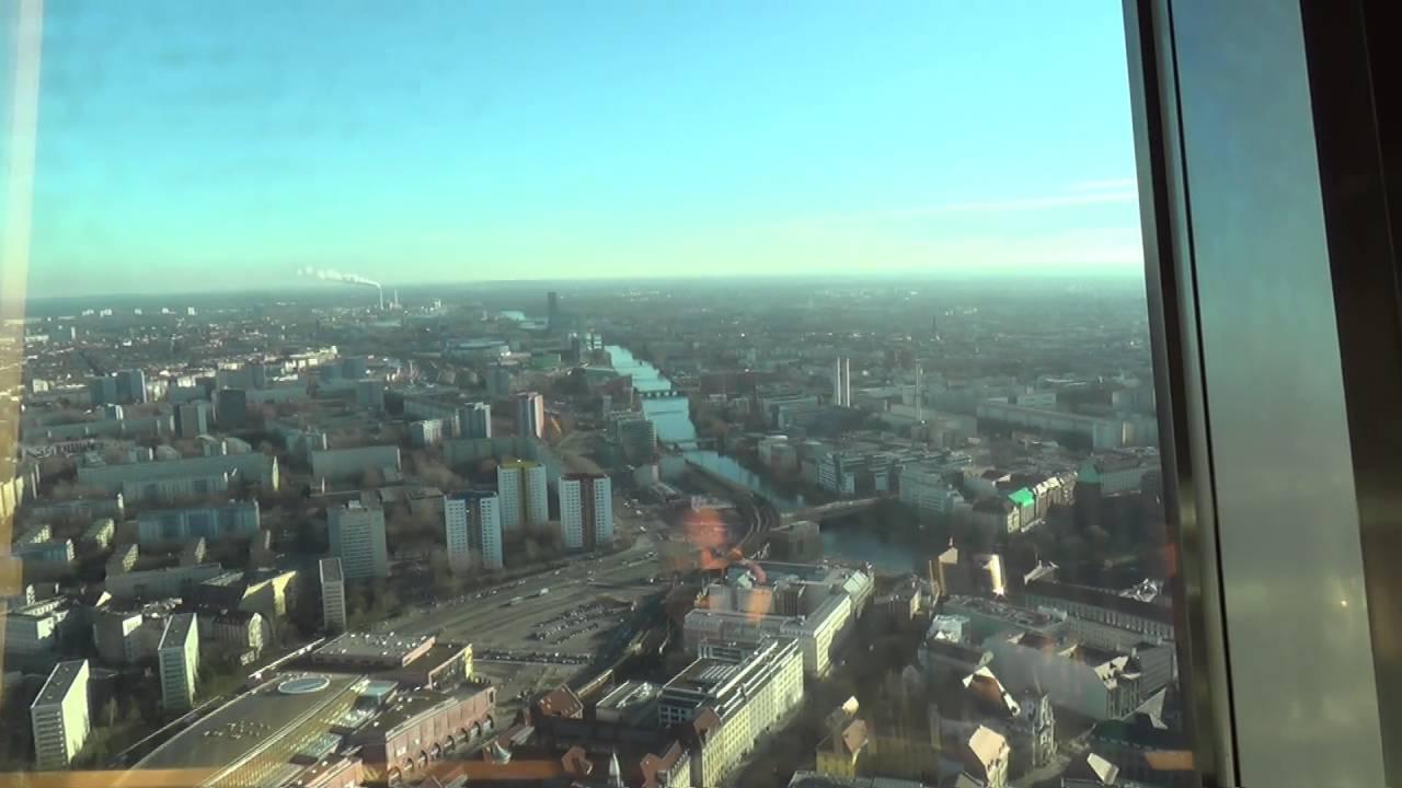Sphere Restaurant In Berlin Tv Tower Revolving And Enjoying The