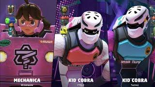 ARMS - Whitehawke (Mechanica) vs FTG-2 (Kid Cobra) vs Techno (Kid Cobra)