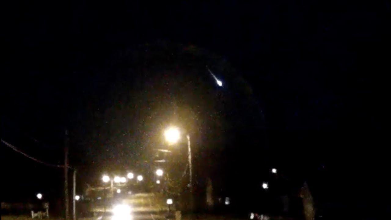 bright meteor through DashCam video - Nashville, 2/12/2019