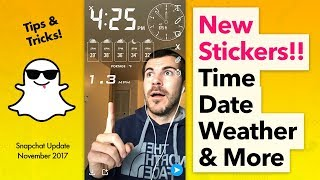 How To Use New Snapchat Stickers (Time, Date, Temp, Weather, Elevation, Speed)