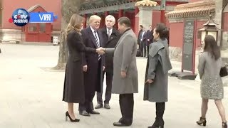 Xi welcomes Trump in China's Forbidden City