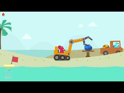 Thumbnail: Kids Play Fun Building Construction Learn Colors Cartoon Games Dinosaur Digger