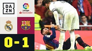 Sergio Ramos schlägt Lionel Messi ins Gesicht: Real Madrid - FC Barcelona 0:1 | La Liga | DAZN