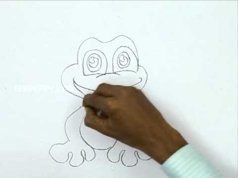 how to draw a realistic frog