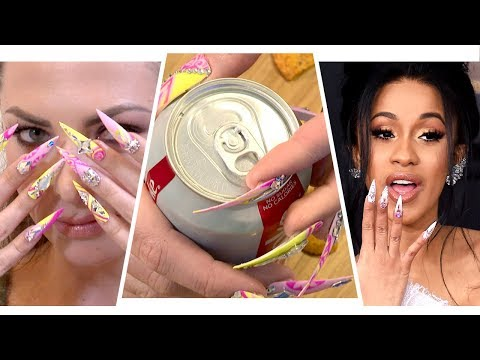 Living A Day With Cardi B's Nails