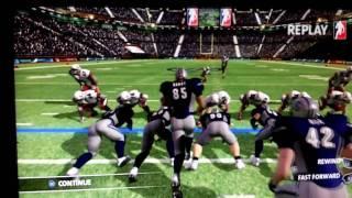 BACKBREAKER Gameplay - Field Goal Block (PS3)