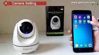 360° GatoCam 2-мегапіксельна смарт-автоматичне відстеження АІ WiFi камера з функція патруля Intellligent