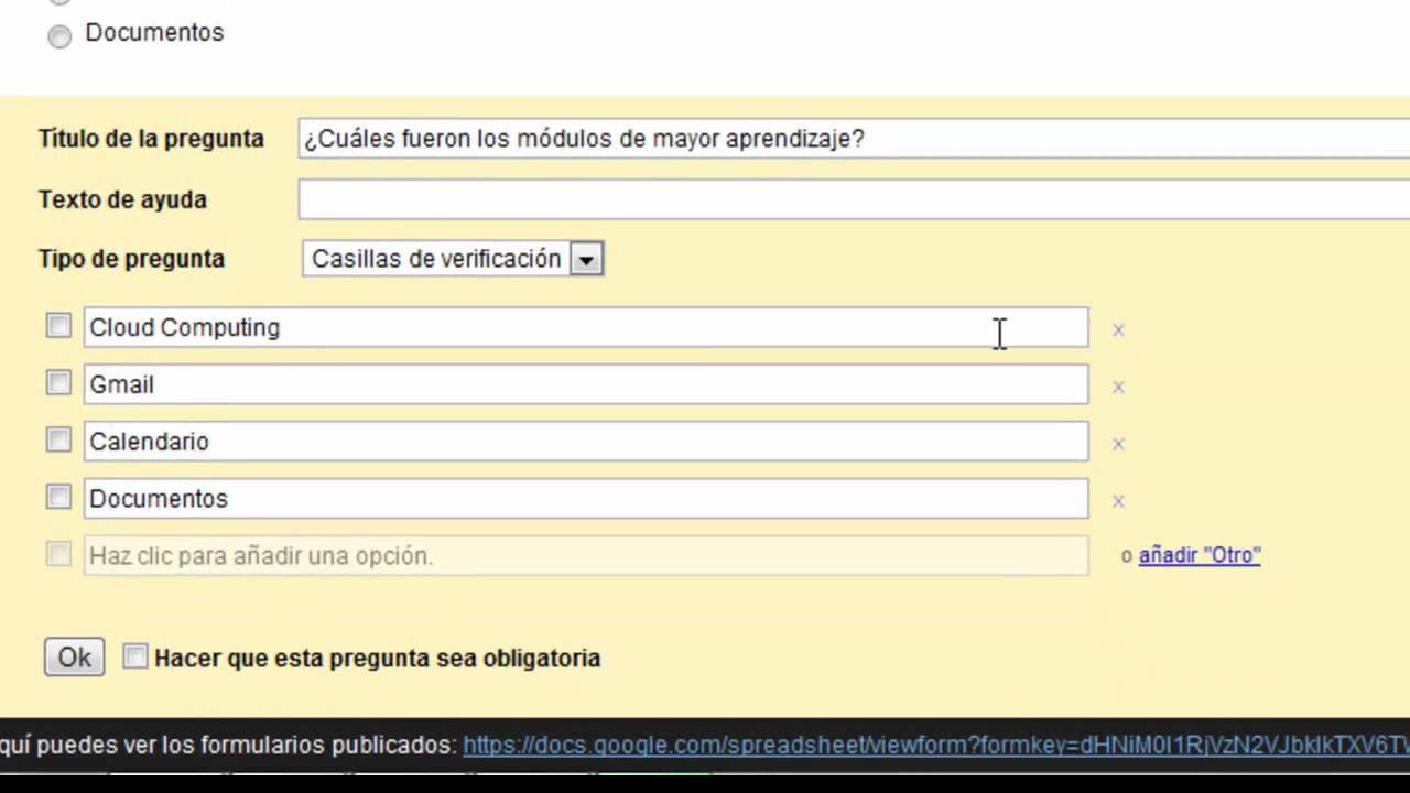 Google Drive - Crear Formulario - YouTube
