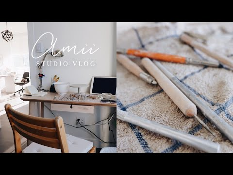 Studio Vlog | A DAY IN MY LIFE as a freelance artist / potter